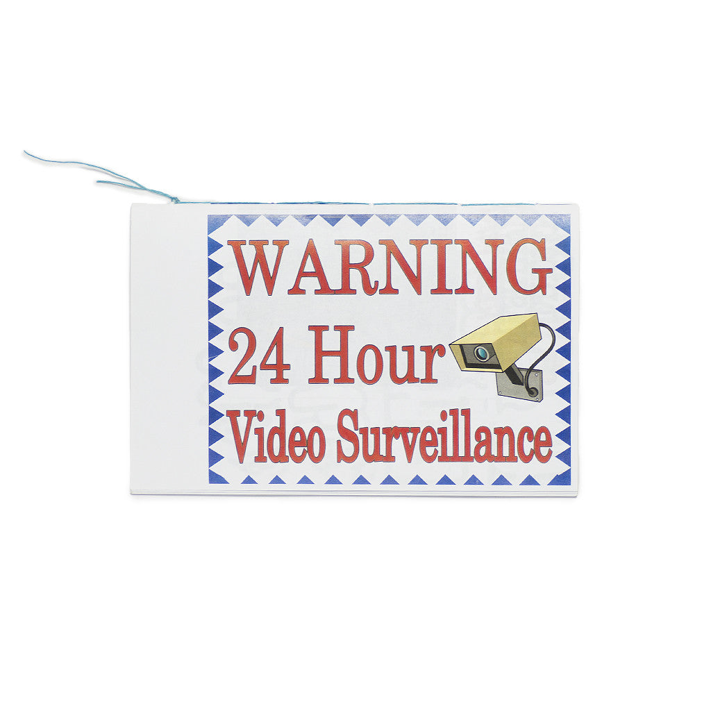 Remio: Warning 24 Hour Video Surveillance zine