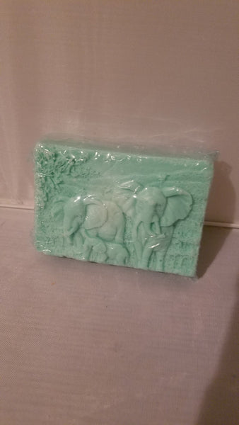 Natural Shea Butter Elephant Design Soap with Lavender Essential Oil - Head Art Works