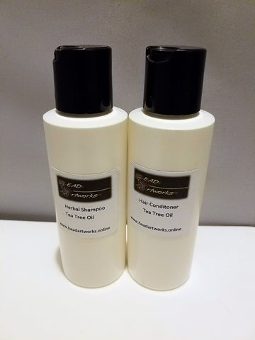 Herbal Shampoo and Conditioner with Tea Tree Oil, Hand Made Shampoo and Conditioner - Head Art Works