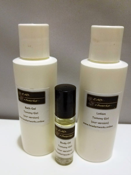 Moisturizing Bath and Body Set of Lotion, Bath Gel and Body Oil - Head Art Works