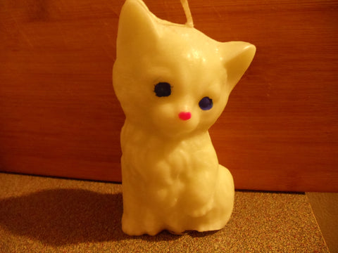 White  Kitty Cat Scented Shaped Candle - Head Art Works