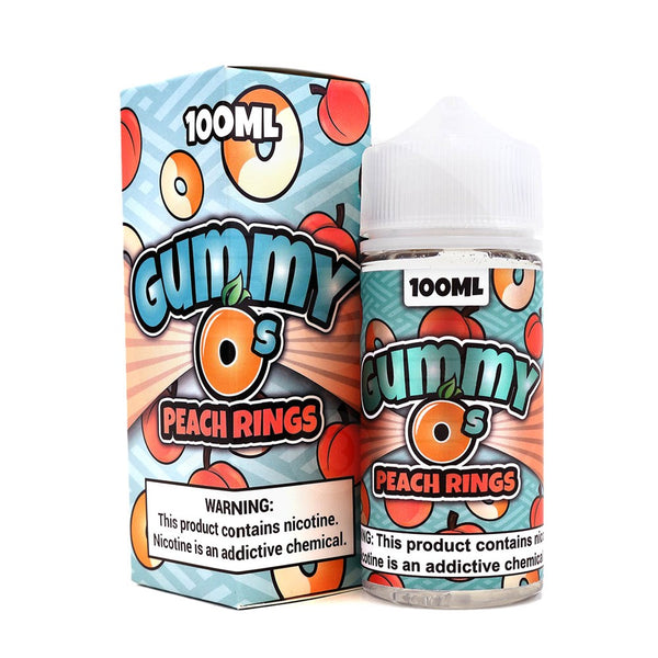 Shijin Vapor Gummy O's Peach Rings 100ml - Vape juice