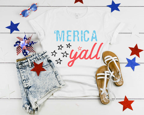 Merica Yall tshirt patriotic 4th of july