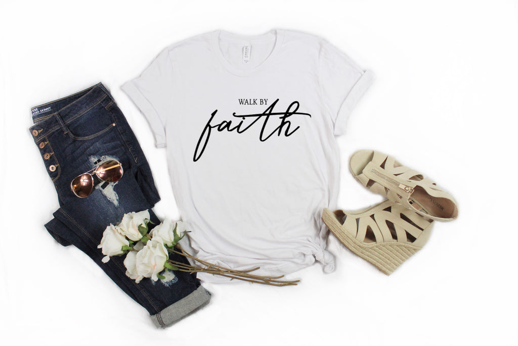Walk By Faith | S- 3X-Apparel-CorrieLeeAnn'sBoutique