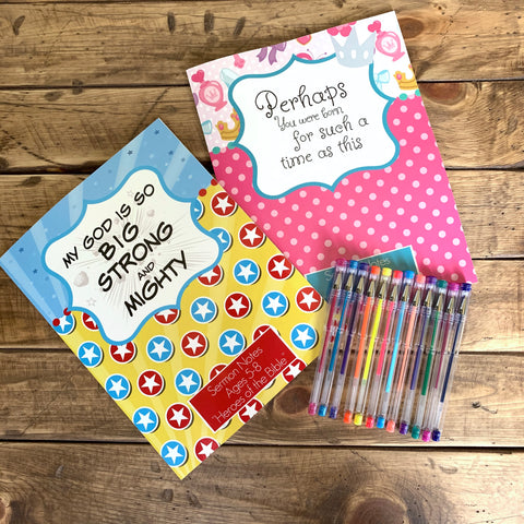 Kids Sermon Activity Notebook (Ages 5-8)-Journal Collection-CorrieLeeAnn'sBoutique