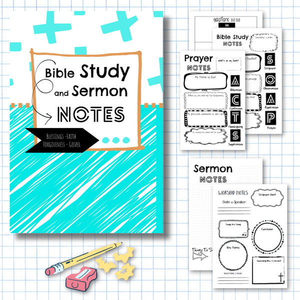 Teen Style Volume 1 Bible Verse Study and Sermon Notes-Journal Collection-CorrieLeeAnn'sBoutique
