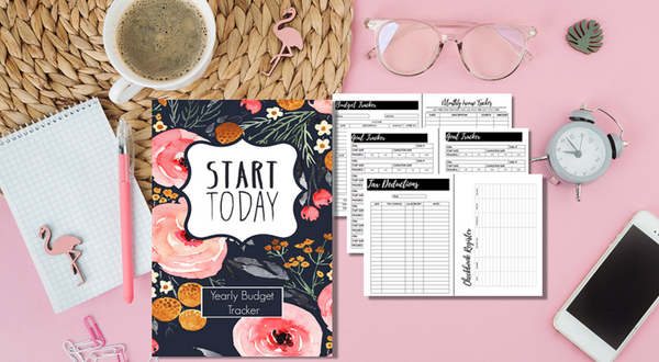 Yearly Budget Tracker 2020-Journal Collection-CorrieLeeAnn'sBoutique