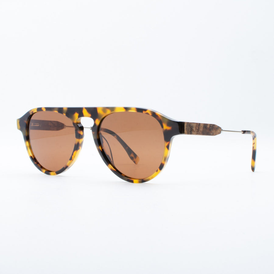 Wooden Sunglasses Amoli Yellow Tortoise Suki