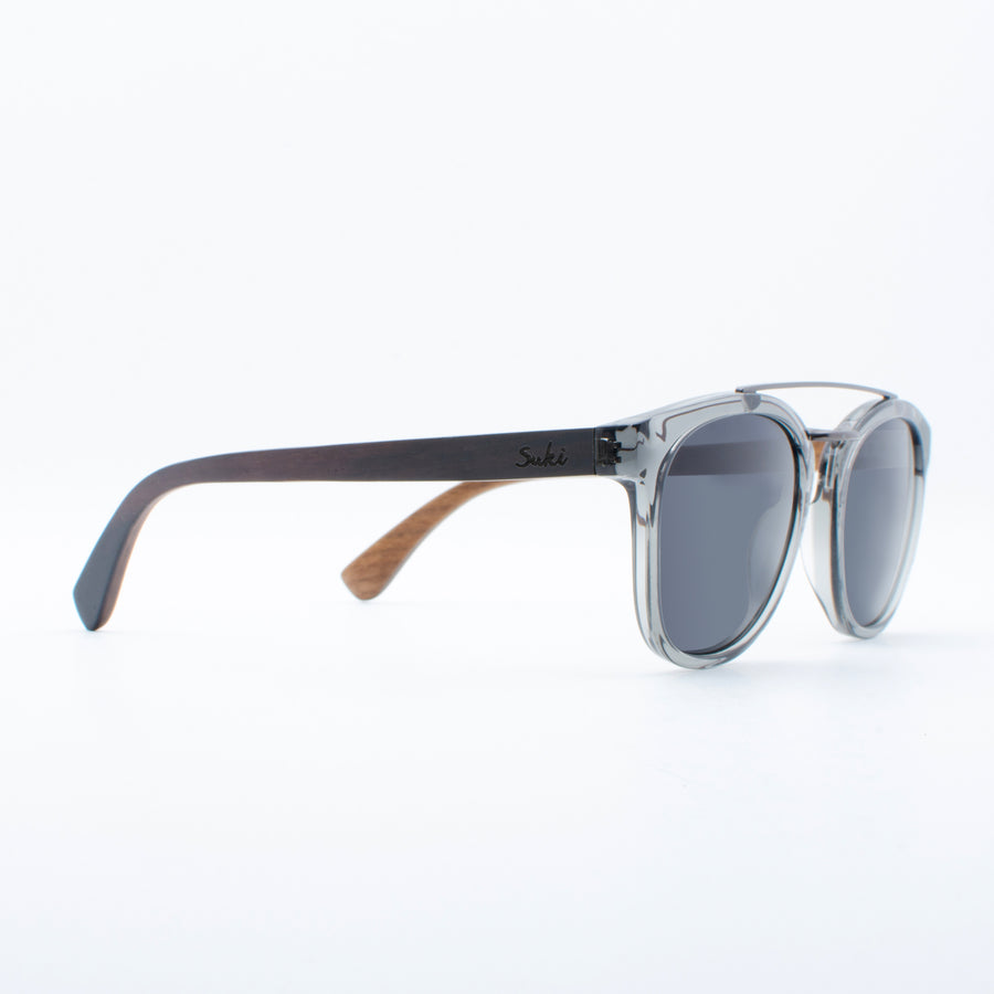 Wooden Sunglasses Gama Grey Suki