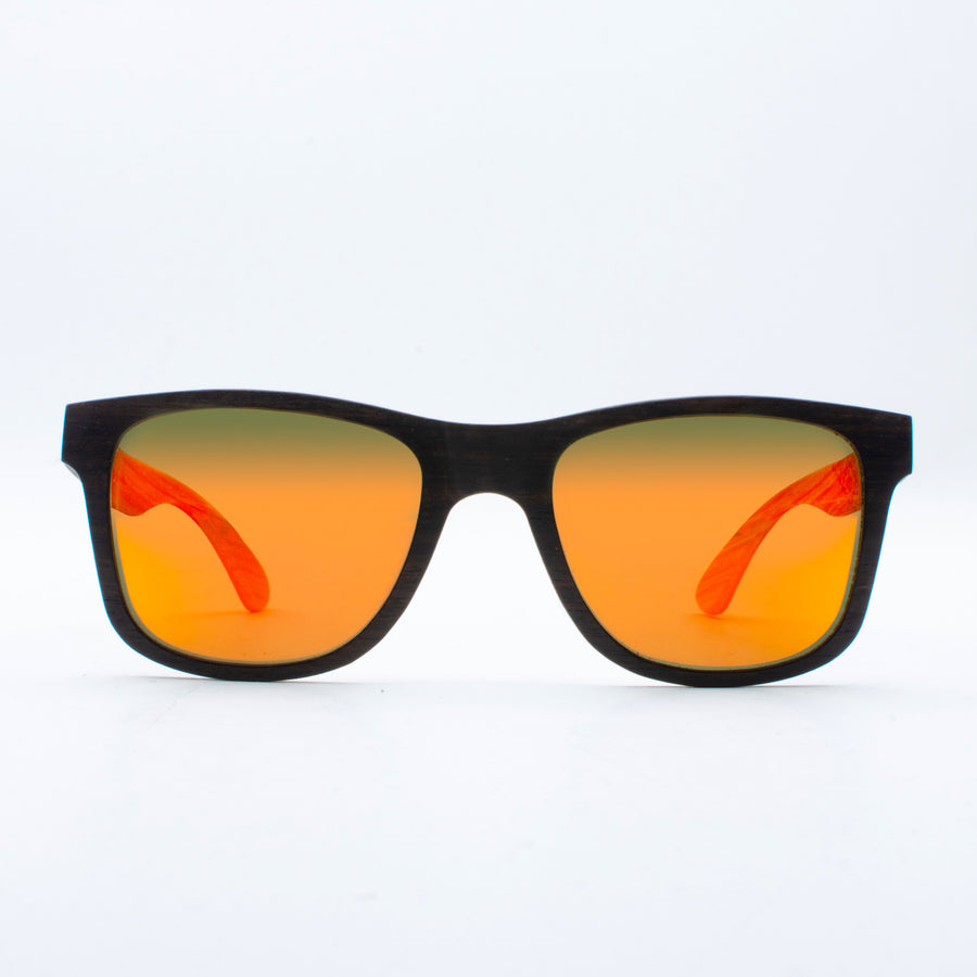Wooden Sunglasses Jogja Ebony Revo Orange Suki