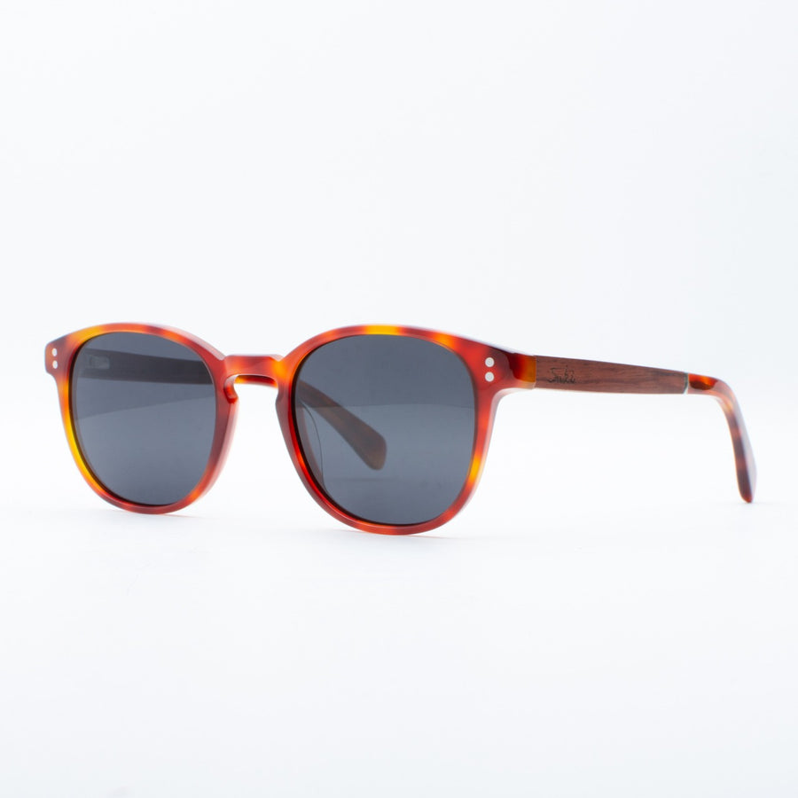 Wooden Sunglasses Kama Red Tortoise Suki