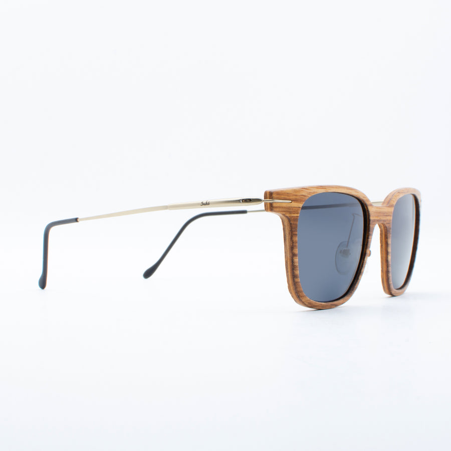 Wooden Sunglasses Zebrawood Ebony