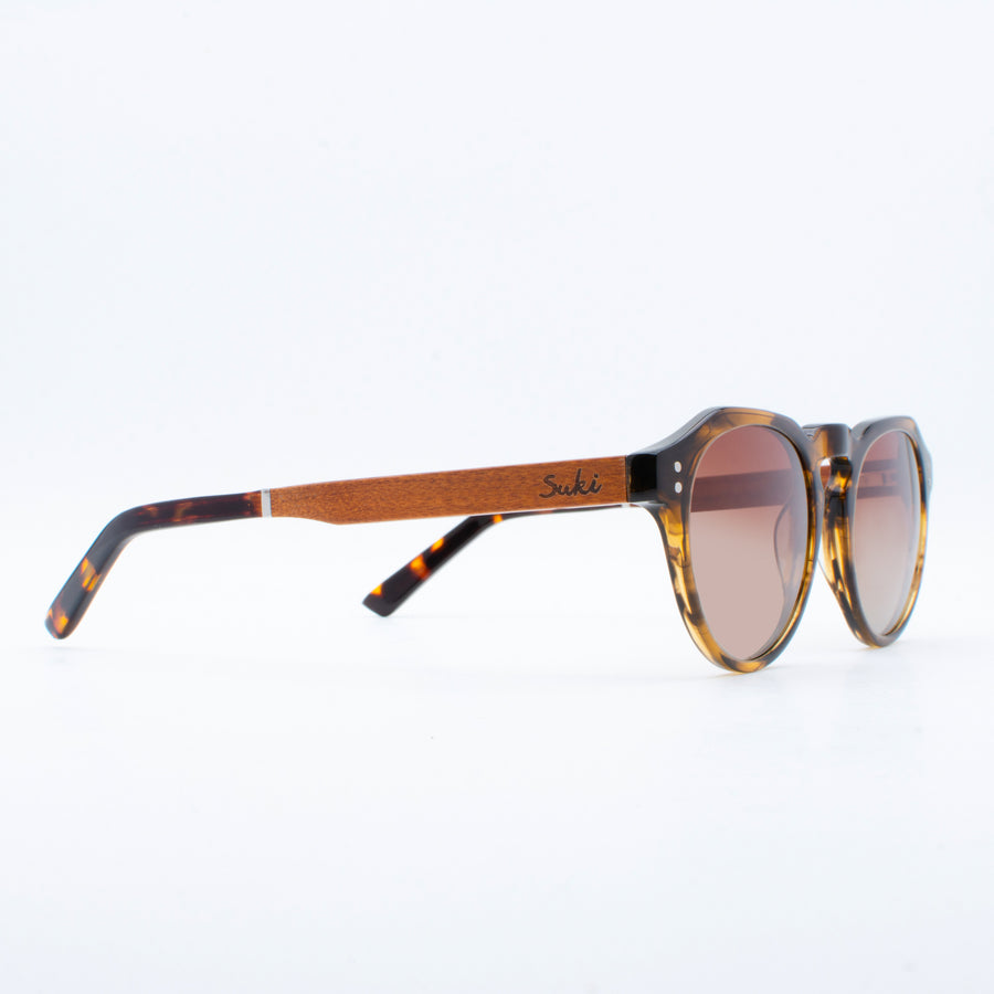 Wooden Sunglasses Puri Tortoise Brown Suki