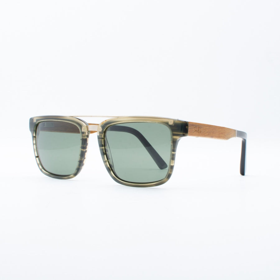 Wooden Sunglasses Rama Moss Green Suki
