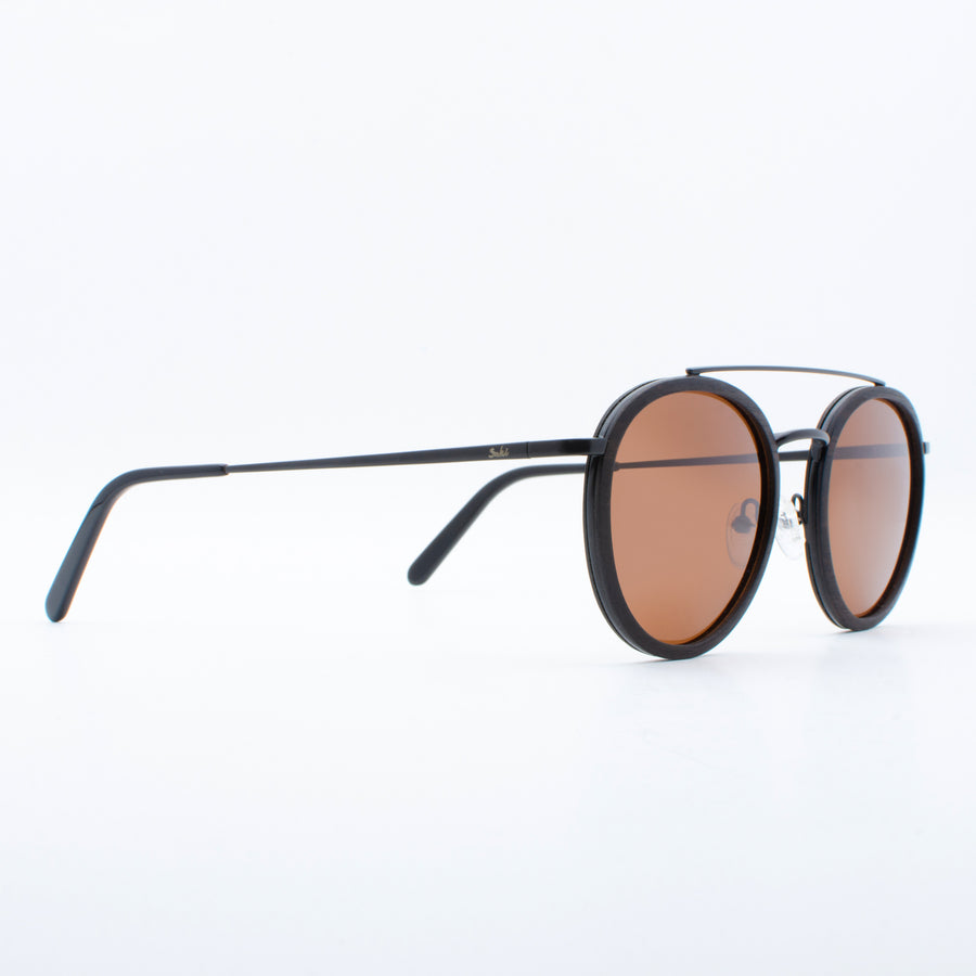 Wooden Sunglasses Yak Ebony Suki