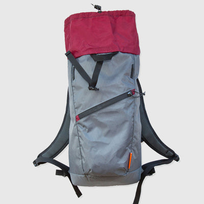 Daypack // Grey and Burgundy