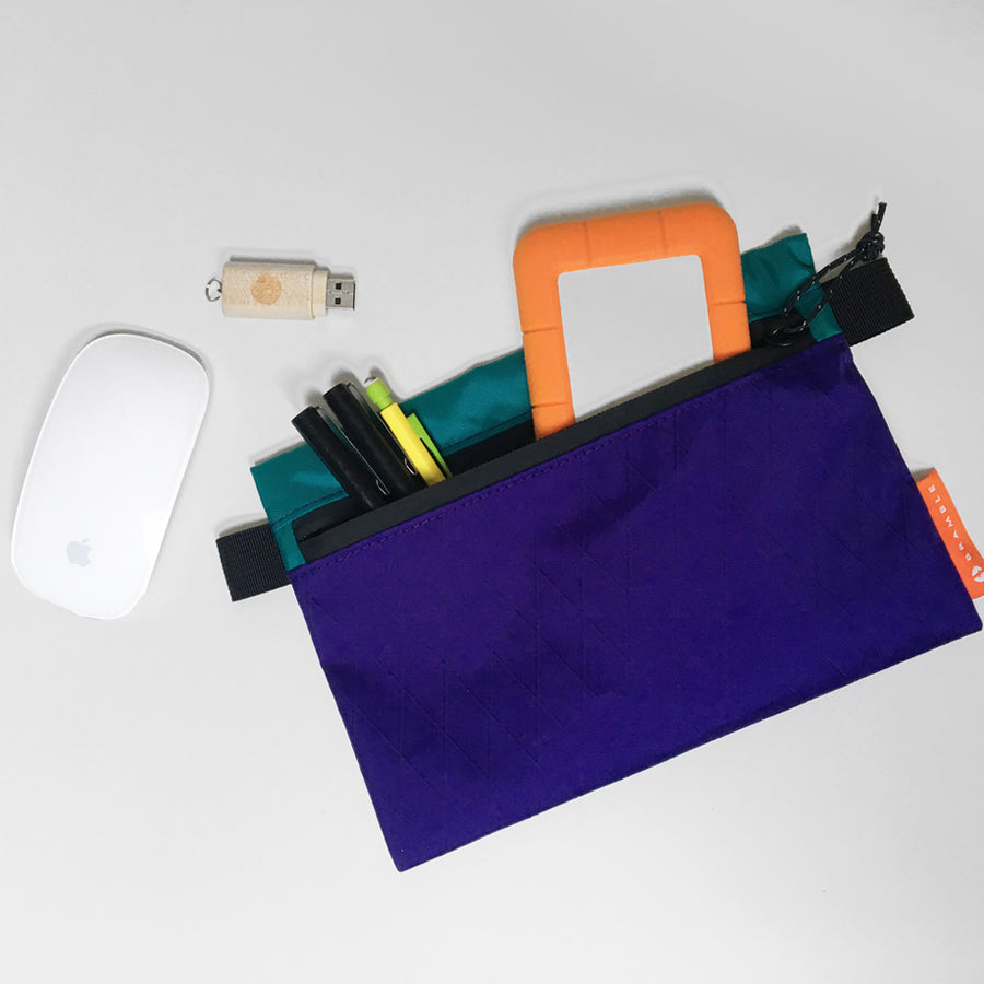 Odds and Ends Pouch // Purple and Teal
