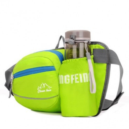 Running Hiking Waist Bag Water Bottle Pocket's Fanny Pack Waist Belt