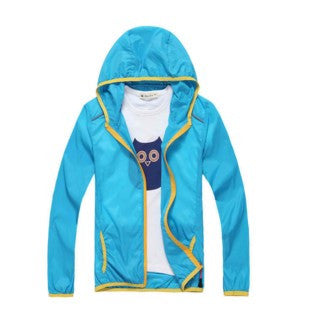Summer Outerwear Jacket Hiking Hoodies Coats For Boy and Girl Kids