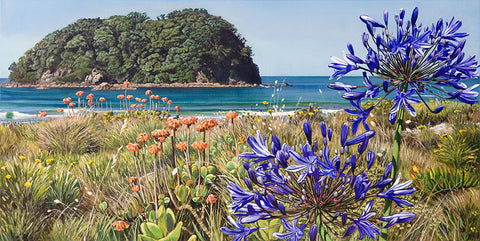 Agapanthus and Motuotau Island