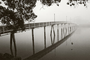 Old Raglan Bridge in Mist