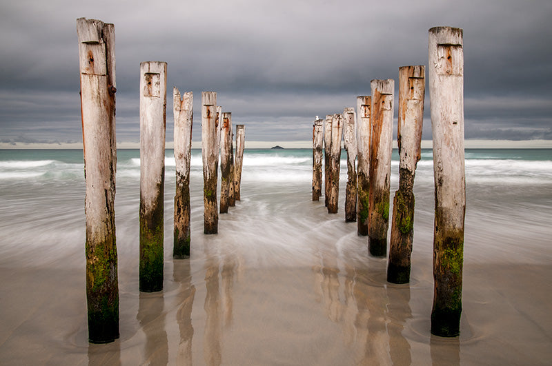 Old Wooden Piles 2, St Clair Beach, Dunedin