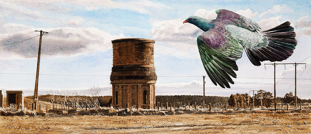 There Is No Planet B - Kereru (Railway Water Tower, Lichfield)