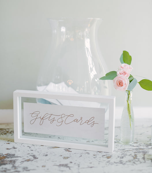 Exuberant Heart Co Gifts and Cards Wedding Signage