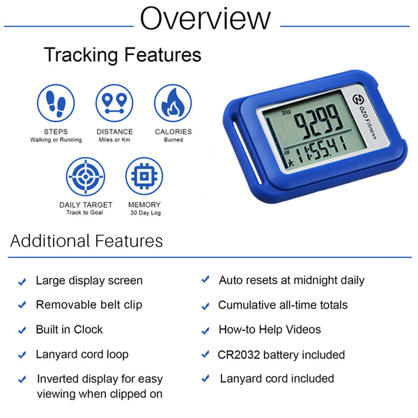 Digital pedometer for walking