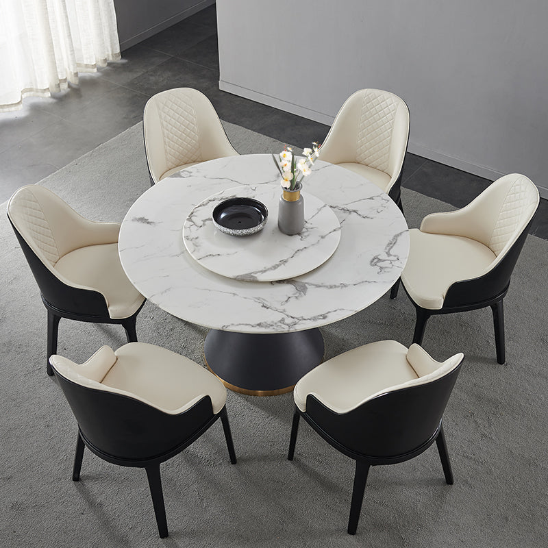 Lucia Round Marble Dining Table With Lazy Susan Waitrose Furniture