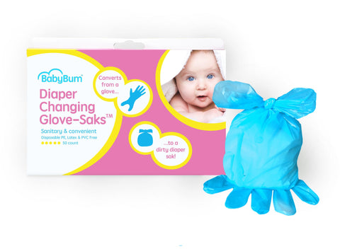 Diaper Changing Glove-Saks™; Case of 4 Boxes