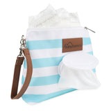 Sky Blue Diaper Clutch