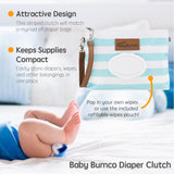 Blue Diaper Clutch + Green Mini Diaper Cream Brush
