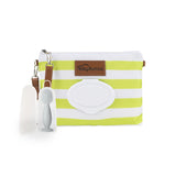 Green Diaper Clutch + Gray Mini Diaper Cream Brush