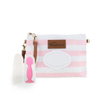 Pink Diaper Clutch + Pink Mini Diaper Cream Brush