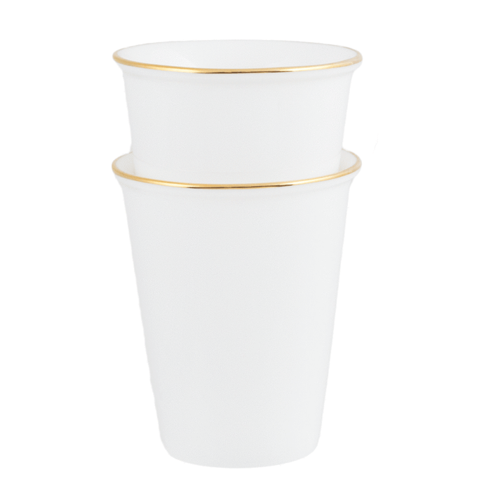 Cristina Re Set of 2 Tumblers Ivory