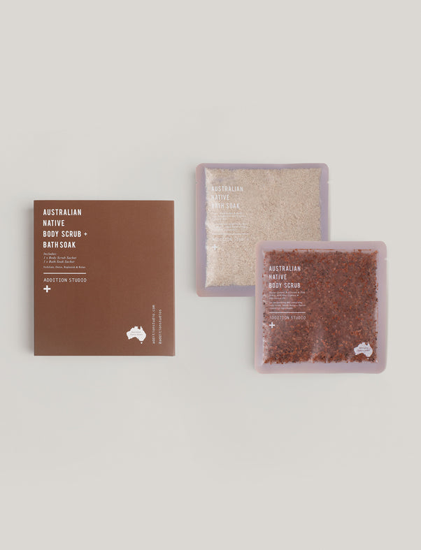 Addition Studio AUSTRALIAN NATIVE BODY SCRUB AND BATH SOAK - 2 PACK