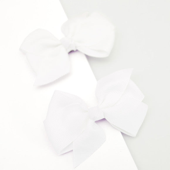 Grosgrain hair bow clips