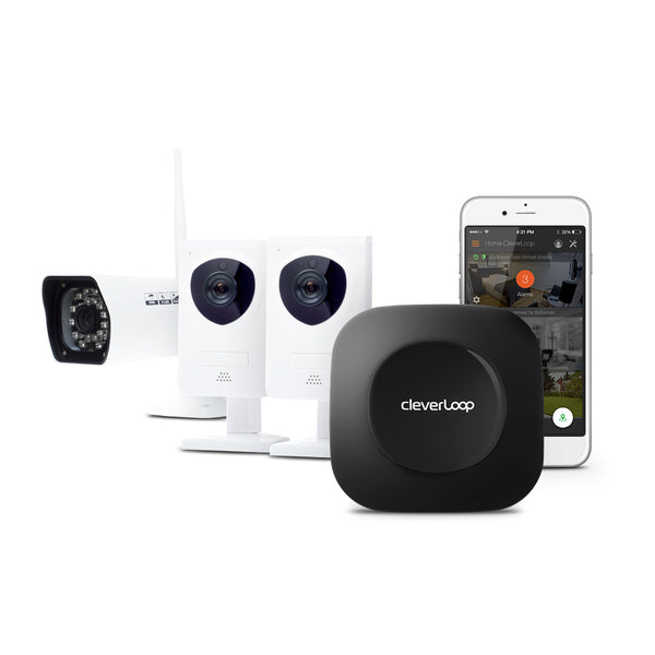 - SOLD OUT - CleverLoop Security System: 1 Base Station with 3 Cameras