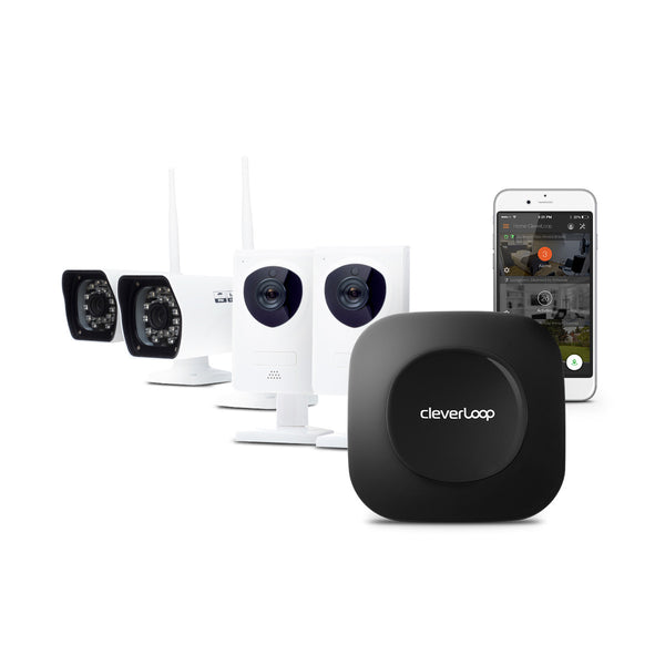 - SOLD OUT - CleverLoop Security System: 1 Base Station with 4 Cameras