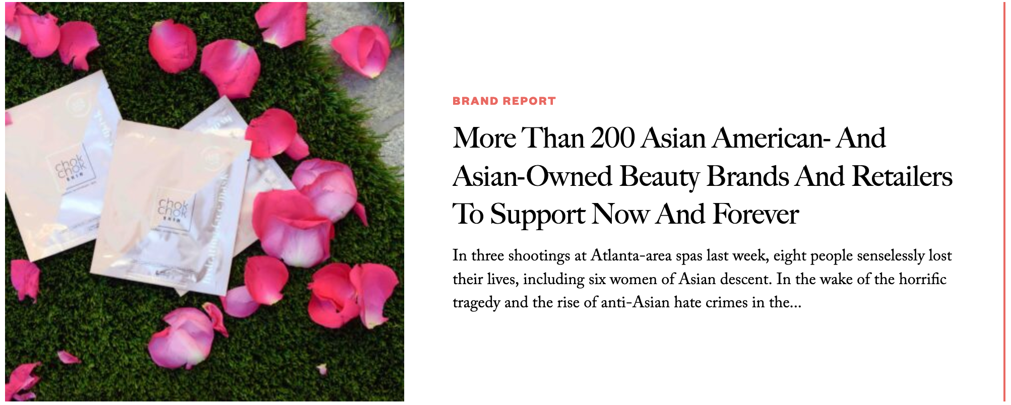 BEAUTY INDEPENDENT - More Than 200 Asian American- And Asian-Owned Beauty Brands And Retailers To Support Now And Forever