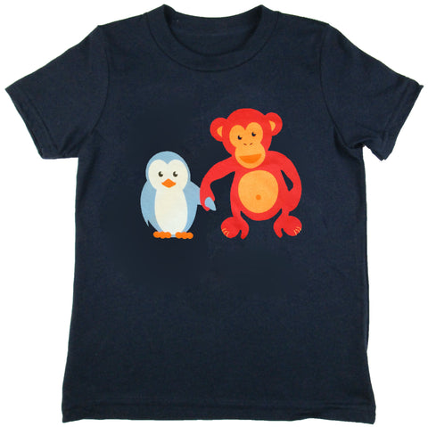 Owen & Orla (Penguin and Chimp) Short Sleeve Unisex Tee