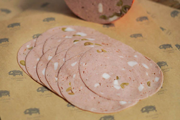Mortadella with Green Olive