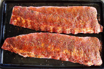 Spicy Rubbed Spare Ribs