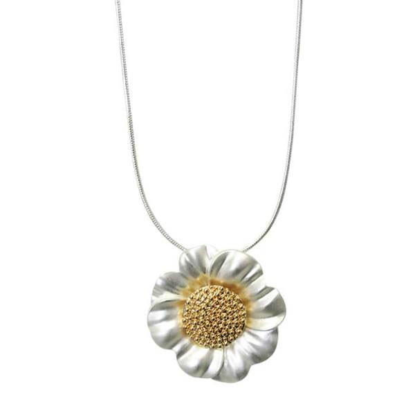Gold Sunflower Necklace by Jax