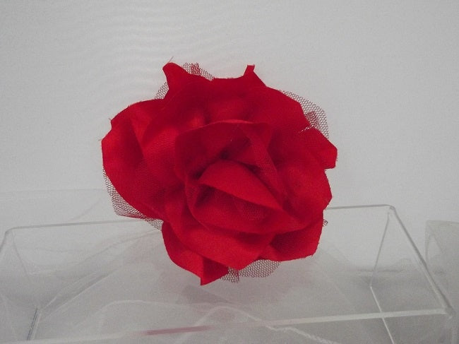 Red Camellia Fascinator