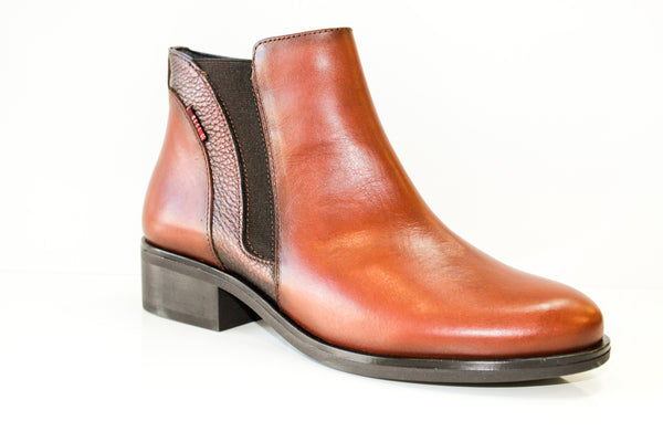 Rowena Dark Tan Ankle Boot from Tolino