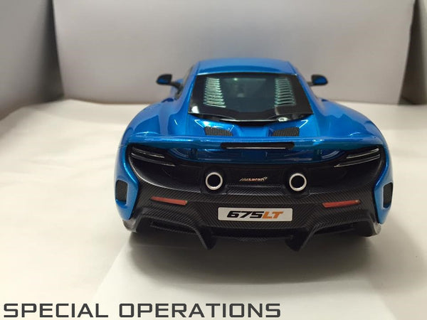 Tecnomodel 1:18 McLaren 675LT (Cerulean Blue) Exclusive to Special Operation Models 25 pcs