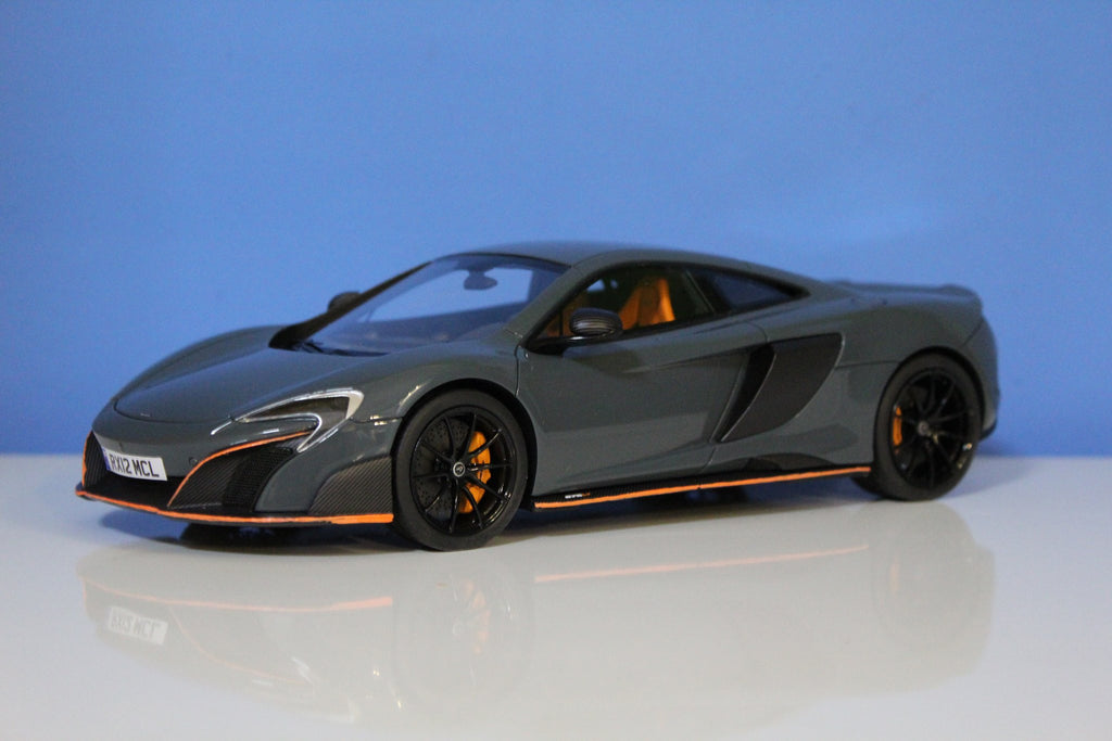 Tecnomodel 1:18 McLaren 675LT (Chicane Grey w/ MSO Orange Accents)