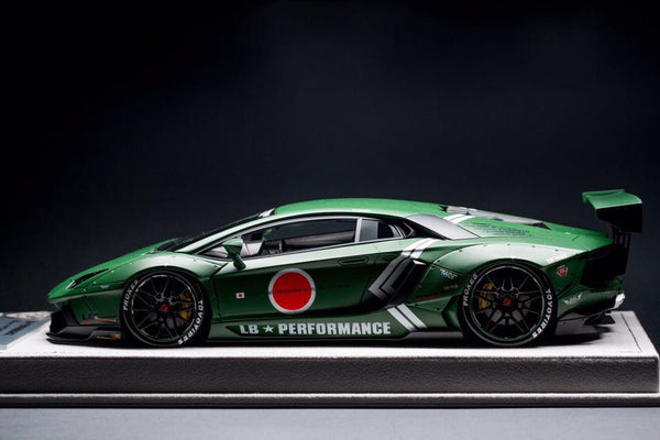 FX Models 1/18 Lamborghini Aventador LP700-4 LB Performance Zero Fighter Wide Body (Matte Green)